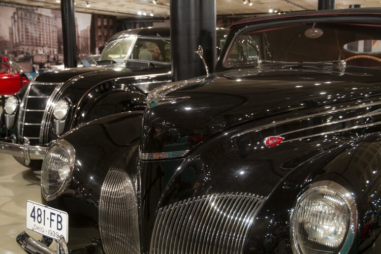 The world class vintage auto collection at the Western Reserve Historical Society.