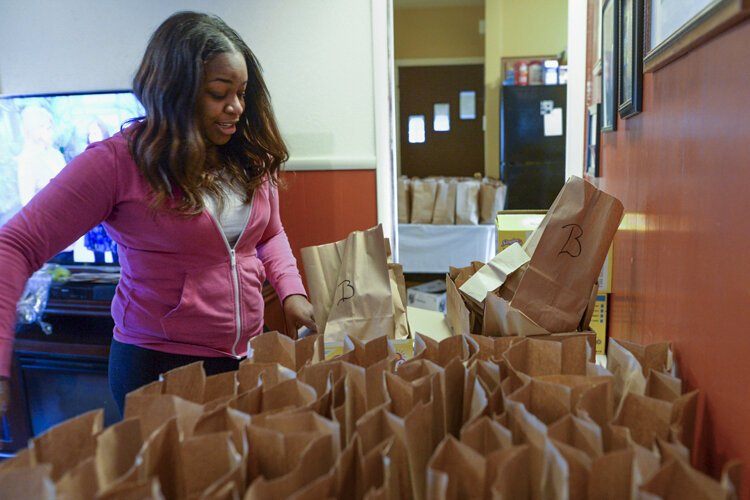 The school lunch pickups are all held between 11:30 a.m. and 1 p.m., which is when most parents are working.