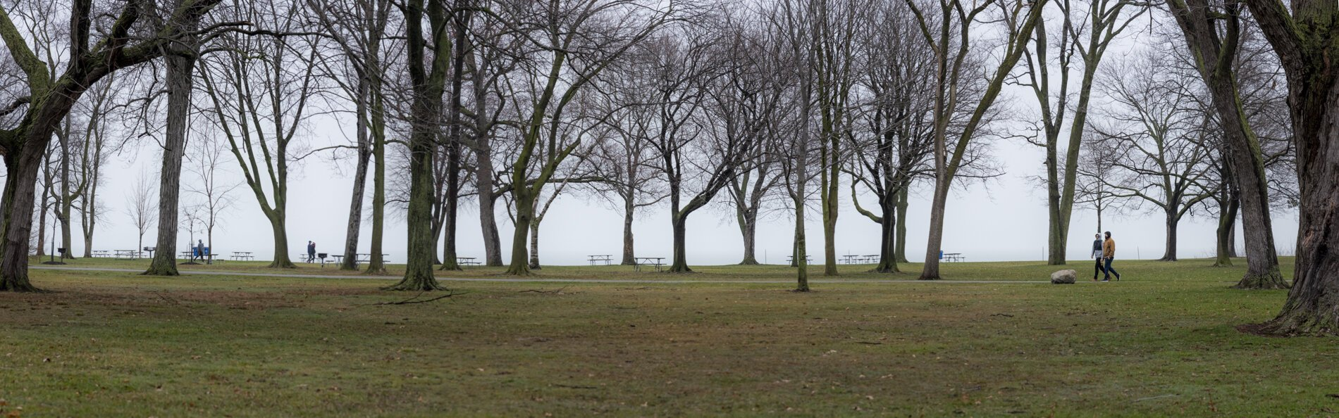 Social distancing at Edgewater Park