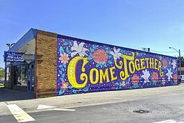Come Together & Thrive Mural, on the House of Swing Jazz Club Building (Fall 2019)