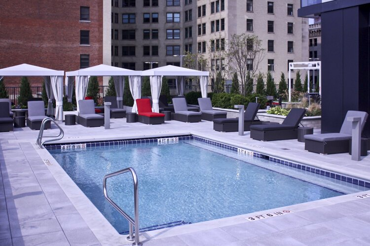 Outdoor Heated Pool at The Lumen