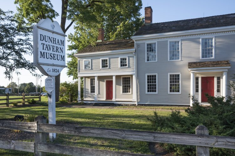 Dunham Tavern Museum is the oldest building still standing on its original site in the city of Cleveland built in 1824.