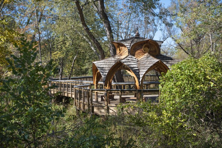 The Rose Foundation Gazebo at the The Nature Center at Shaker Lakes.