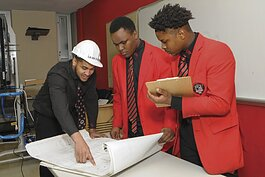 Ginn Academy's program–in collaboration with Project Ready, funded by United Way, and the ACE Mentoring Program, supported by the Construction Employer's Association–is designed to create career pathways into construction for high school students.