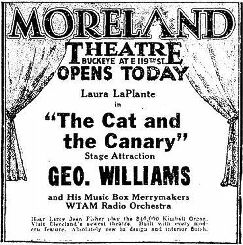 Moreland Theatre grand opening advertisement in 1928.