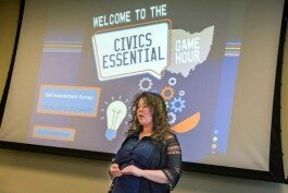 Brittany York lead the Civics Essential trivia series.