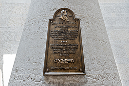 Marker for location where Abraham Lincoln delivered a memorable address on September 16, 1859. Photo by Gary Kessler.