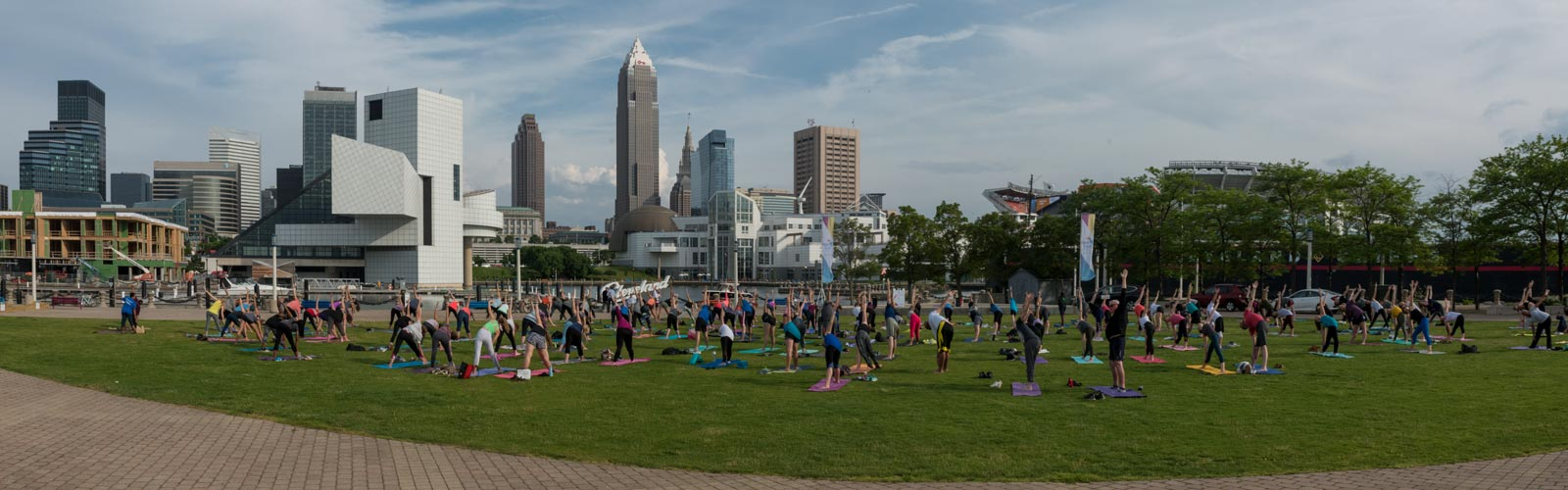 Yoga at Voinovich Park with North Coast Namaste <span class='image-credits'>Bob Perkoski</span>