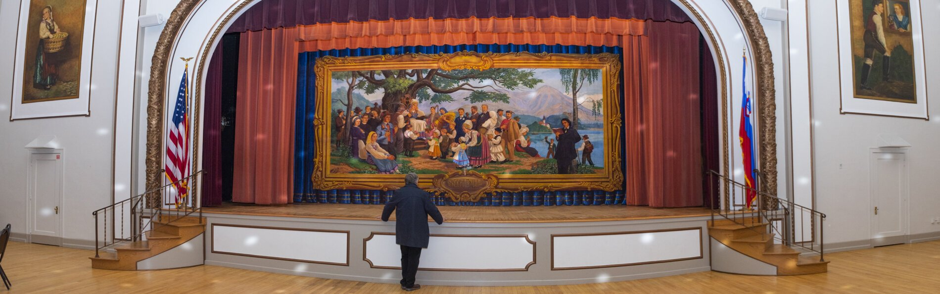 The Gaspari Curtain - entitled 'Mother Slovenia' at the Slovenian National Home in the St. Clair – Superior neighborhood