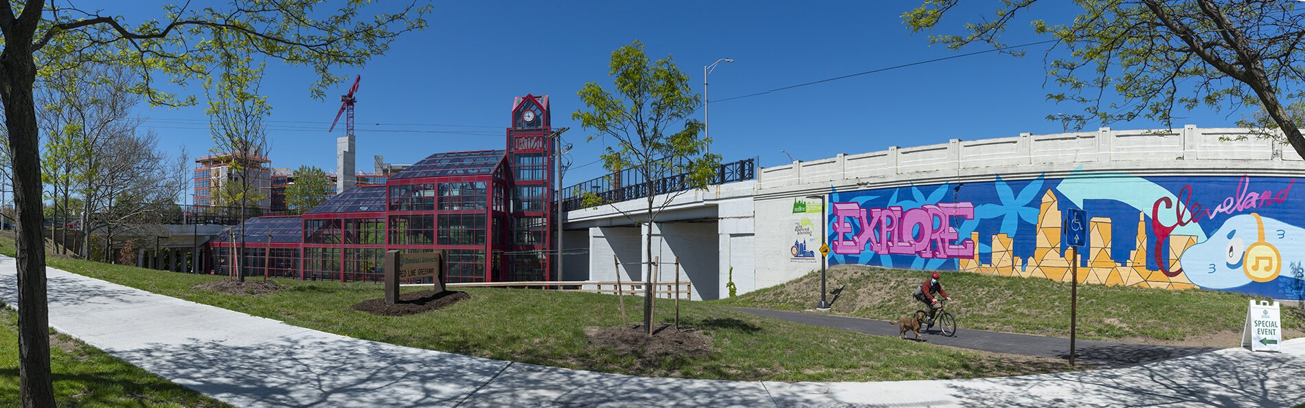 The Newly opened Red Line Greenway Trailhead