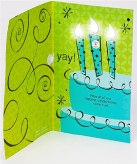 American greetings new cards let recipients blow out candles american greetings has made it possible to send a loved one a greeting card with birthday candles to blow out literally the new line of cards called m4hsunfo Gallery