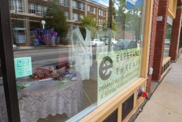 Esperanza Threads storefront in Detroit Shoreway