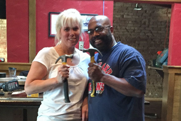 Rudy�s owners Amanda Elfers and Quintin Jones