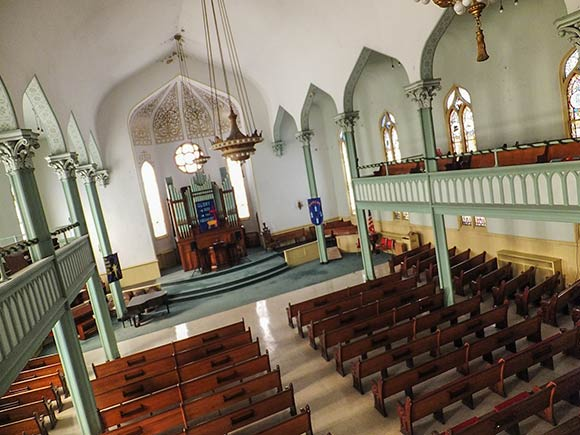 The main sanctuary of Zion United Church of Christ will soon accommodate climbers in addition to the nearly 150-year-old congregation