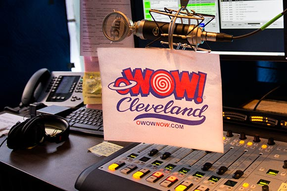 oWOW, Cleveland's first live and local internet radio station at 78th Street Studios
