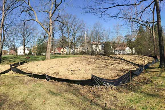Future site of pump track in South Euclid's Bexley Park