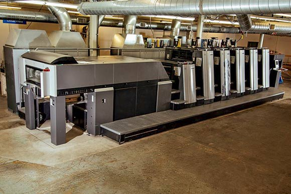 The new Heidelberg Speedmaster XL 75 Anicolor press at Jakprints