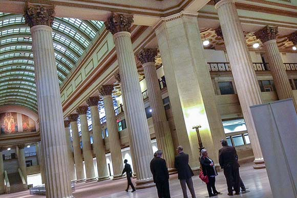 The grand lobby of the Huntington/925 Building