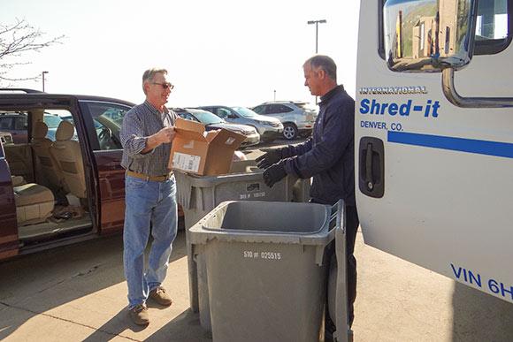 KeyBank Document Shred day event at the Tiedeman facility in Cleveland