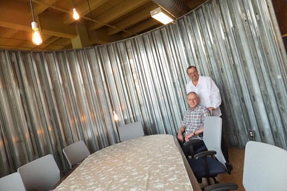 John Gorman and Jim Marchyshyn in oWOW's new conference room at 78th Street Studios