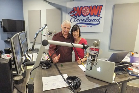 oWOW on-air personalities Ravena Miceli and Steve Pappas