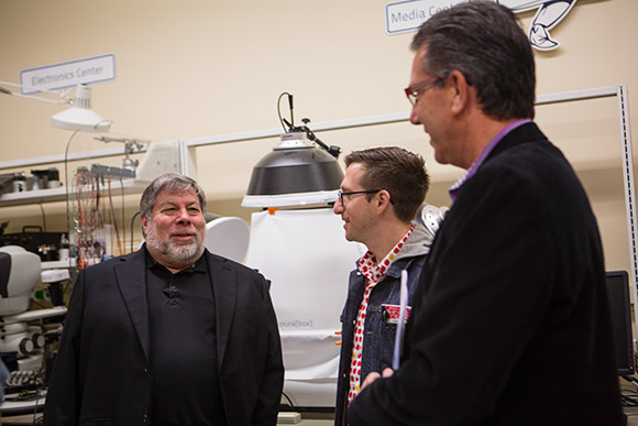 Steve Wozniak visits think[box]