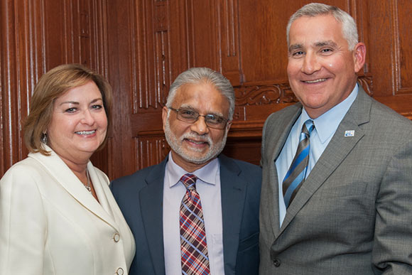 Rick and Lori Buoncore with Dr. Mehta (middle)