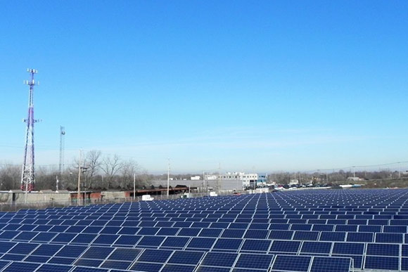 CMHA's six-acre solar field on the Kinsman Road Campus