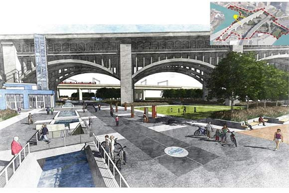 Towpath Trail Terminus rendering