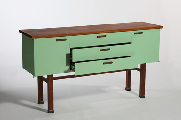 Jason Radcliffe�s Niftic Credenza in Mint  will be on sale and featured at F*SHO