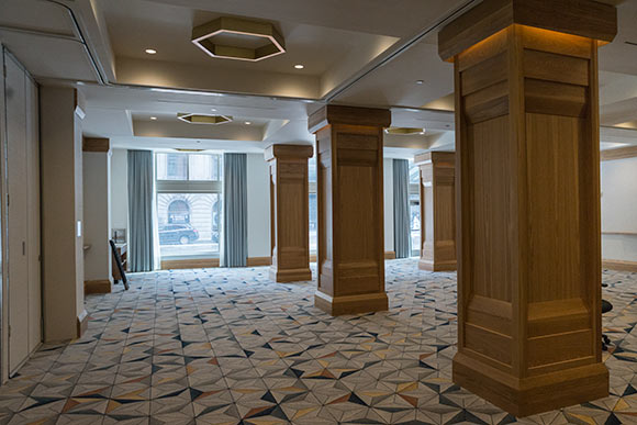 The hotel features a 3,800 square-foot ballroom
