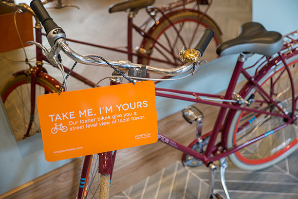 One of the signature perks the hotel brand is known for is free bicycles