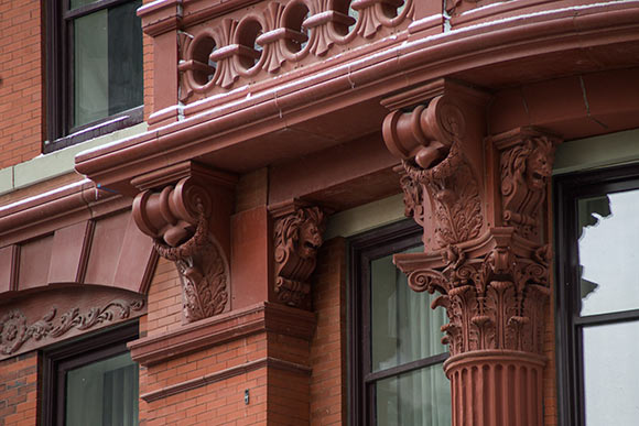 Some of the terra cotta fa�ade details