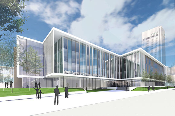 Rendering of the new CSU engineering building