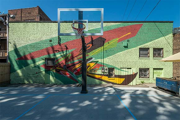 Edwins campus completes second phase for Basketball court mural