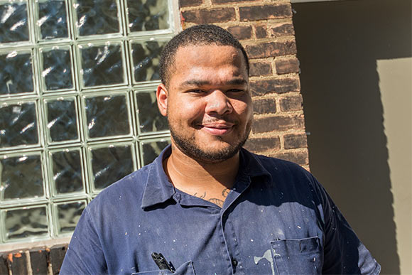 De�Anthony Harris, went through the culinary class and is now the RA for the dorms and does jobs around the campus