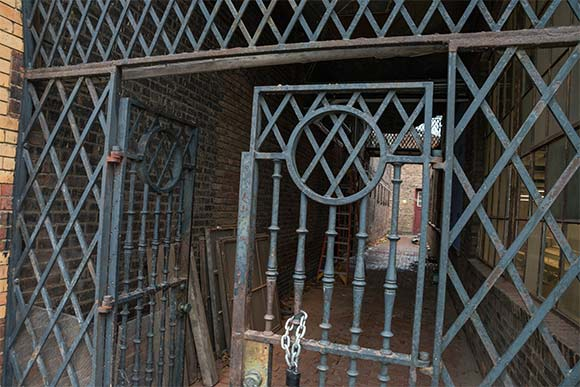 Old iron work gates at The Foundry