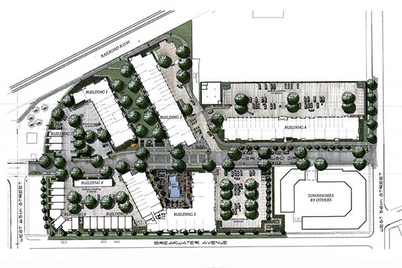 The-Edison Rendered Site Plan