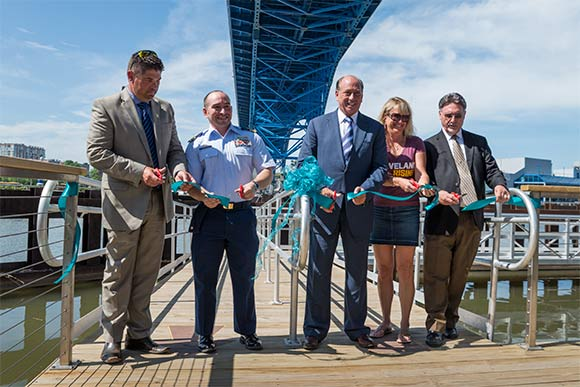 Cleveland Metroparks Water Taxi ribbon cutting on May 27th 2016