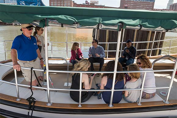 Cleveland Metroparks Water Taxi inaugural ride