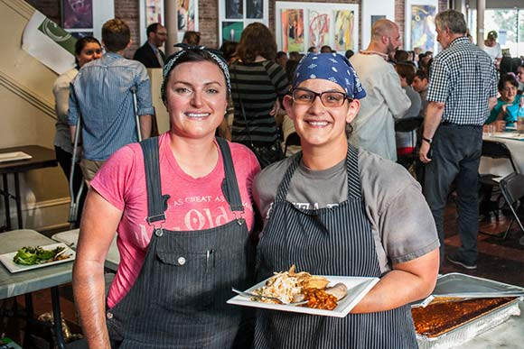 Melissa Khoury and Penny Barend of Saucisson