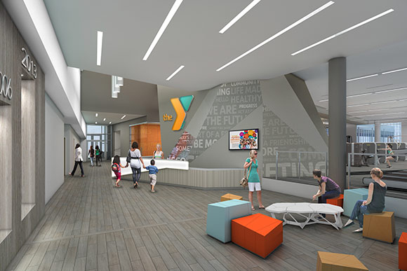 YMCA first floor lobby