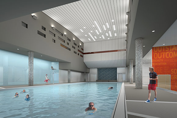 New downtown ymca set to open at galleria in march for Garden city ymca pool schedule