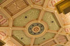 The recently finished ceiling of the Ohio Theater