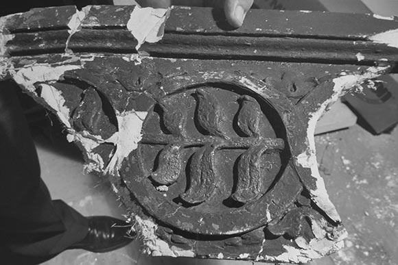Original Ornamentation used to make the new molds for the renovation