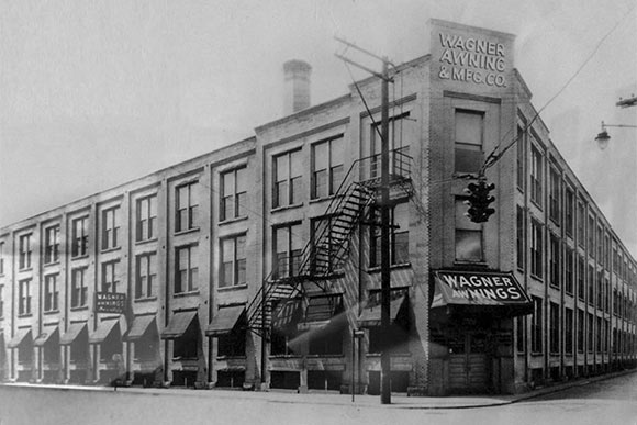 Early photo of Wagner Awning