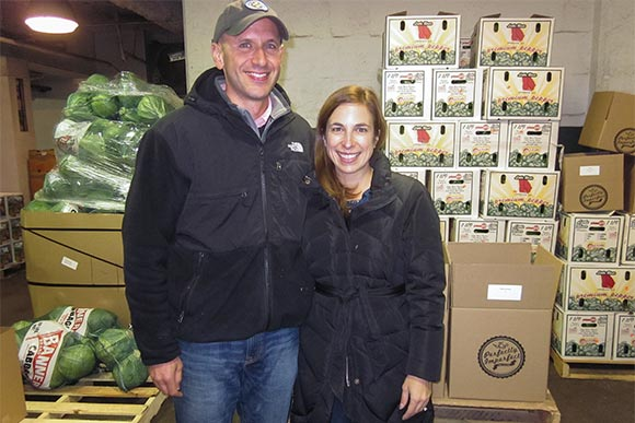 Andy and Ashley Weingart of Forest City Weingart Produce Co