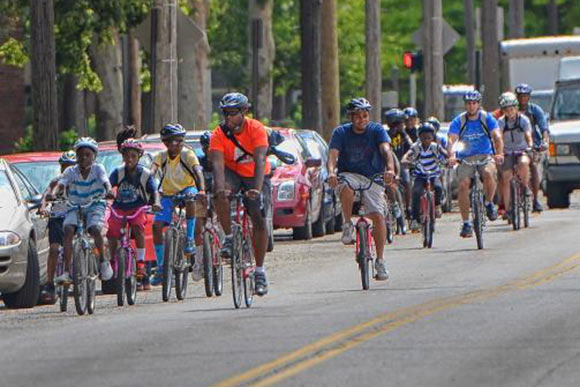 stalwart local advocate champions cleveland refugee bike project