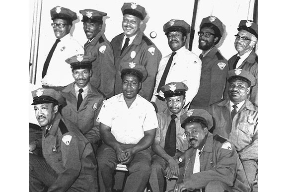 Auxillary police members--early 1970s