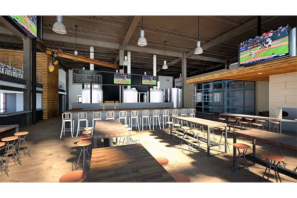 Saucy Brew Works interior rendering
